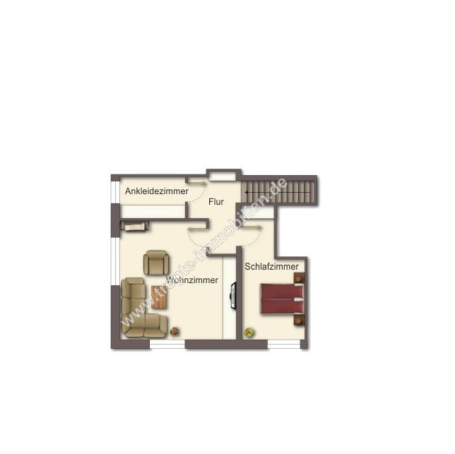 Grundriss Obergeschoss -Maisonettewohnung