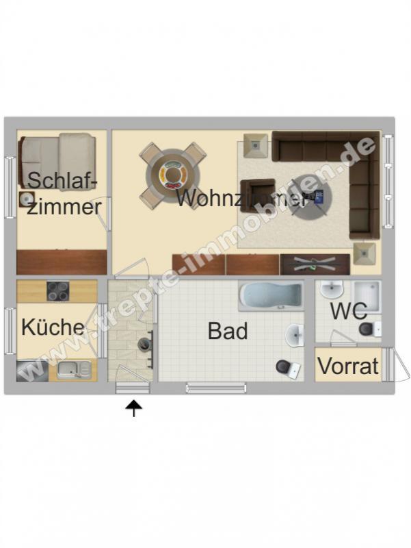 Grundriss Erdgeschoss -Nebenhaus