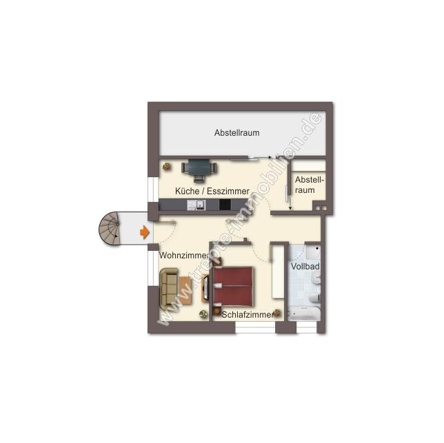 Grundriss Obergeschoss 3