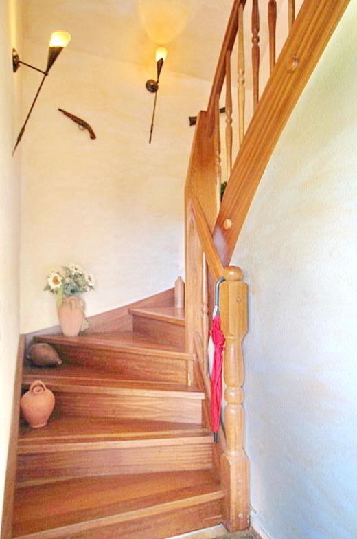 Mahagoni-Treppe