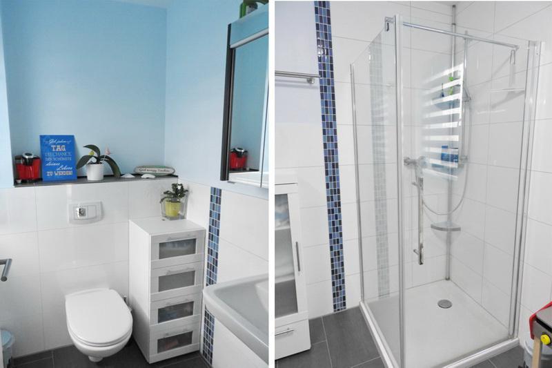 Gäste-WC / Dusche im Badezimmer