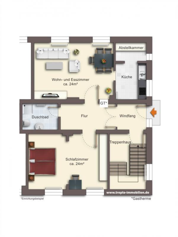 Grundriss Erdgeschoss Wohnung 4
