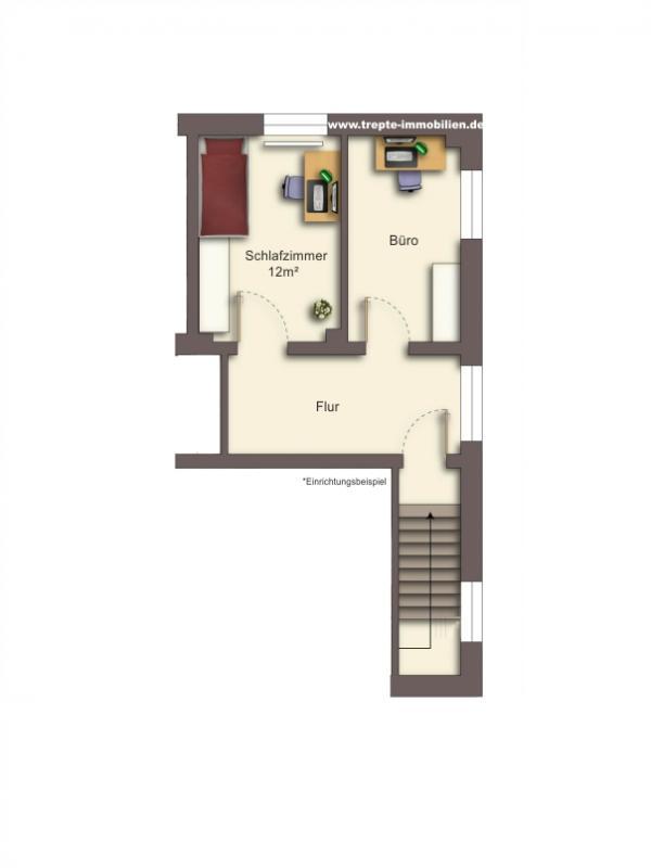 Grundriss Obergeschoss Wohnung 4