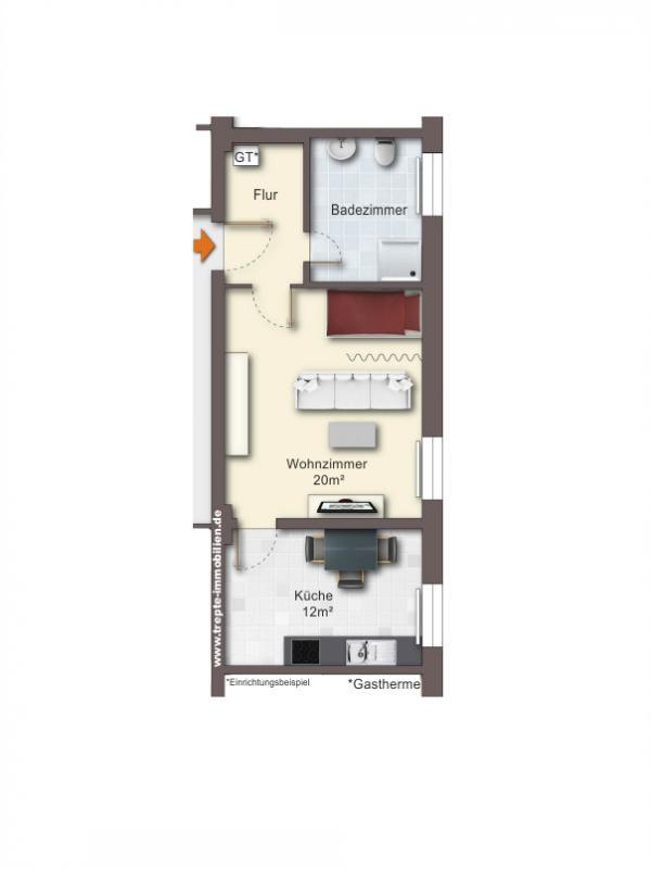 Grundriss Obergeschoss Wohnung 6
